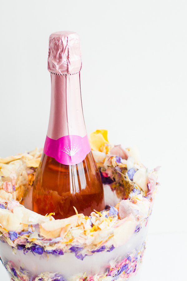 DIY_Floral_Flower_Ice_Bucket_with_Natural_Confetti_from_Shropshire_Petals_Wine_Cooler_Champagne__3