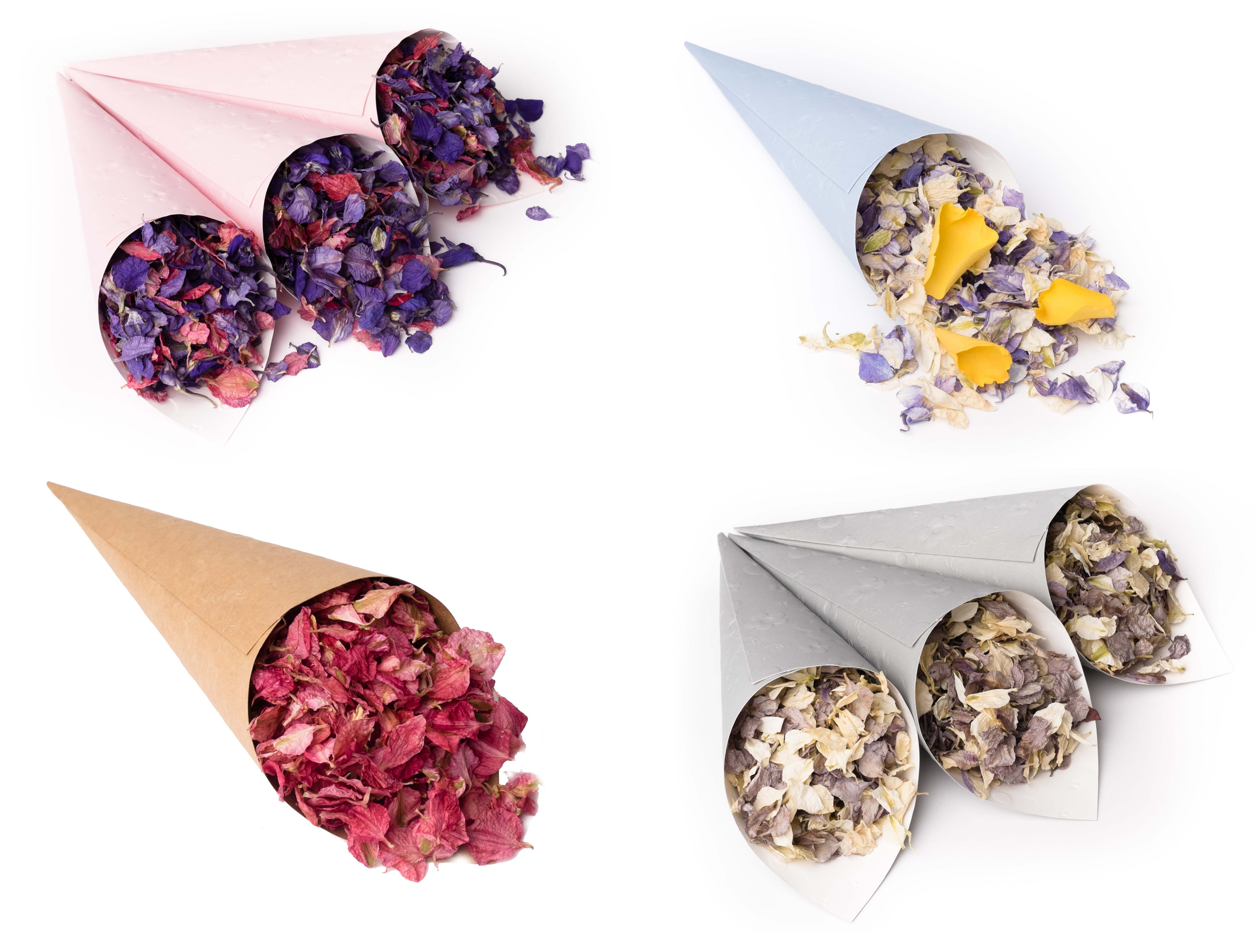 Pink__Blue__Craft_and_Grey_confetti_cones