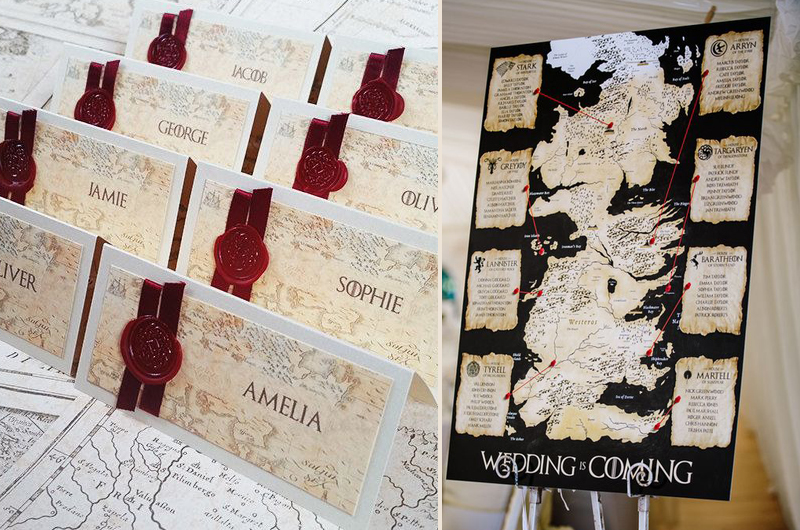 Game Of Thrones Inspired Wedding Biodegradable Petal