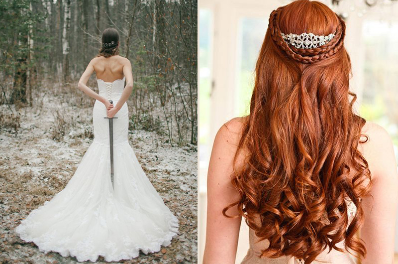 Of Thrones Wedding Theme Dress Hair