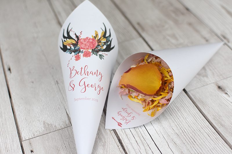 Personalised_Confetti_Cone_Stag_Horn_theme