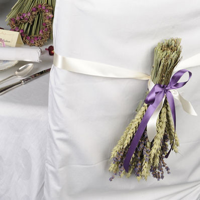wheat and lavender bundle- a country theme for a chair back